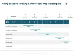 Pricing Schedule For Equipment Purchase Proposal Week Ppt Designs
