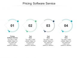 Pricing Software Service Ppt Powerpoint Presentation Ideas Infographic Template Cpb
