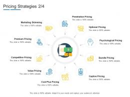 Pricing Strategies Cost Product Channel Segmentation Ppt Professional