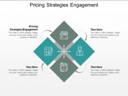 Pricing Strategies Engagement Ppt Powerpoint Presentation Infographic Template Skills Cpb