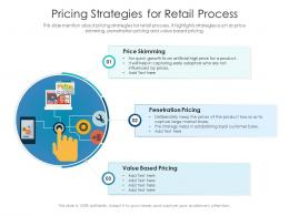 Pricing Strategies For Retail Process