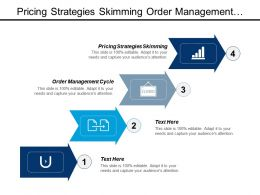 Pricing Strategies Skimming Order Management Cycle Organisational Chart Cpb