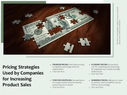 Pricing Strategies Used By Companies For Increasing Product Sales