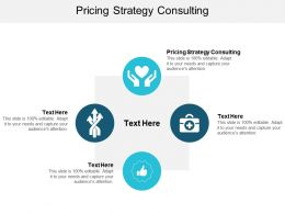 Pricing Strategy Consulting Ppt Powerpoint Presentation Styles Brochure Cpb