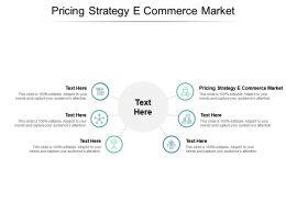 Pricing Strategy E Commerce Market Ppt Powerpoint Presentation Portfolio Grid Cpb
