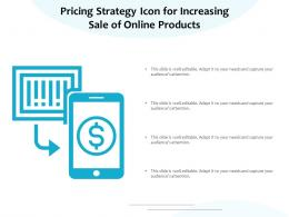 Pricing Strategy Icon For Increasing Sale Of Online Products