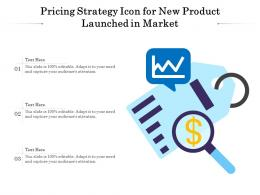 Pricing Strategy Icon For New Product Launched In Market