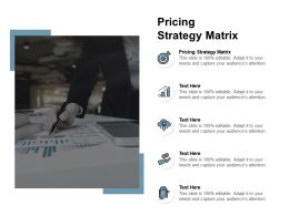 Pricing Strategy Matrix Ppt Powerpoint Presentation Styles Layout Cpb