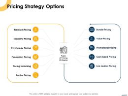 Pricing Strategy Options Ppt Powerpoint Presentation Summary Designs Download