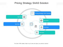 Pricing Strategy SAAS Solution Ppt Powerpoint Presentation Outline Slideshow Cpb