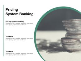 Pricing System Banking Ppt Powerpoint Presentation Outline Microsoft Cpb