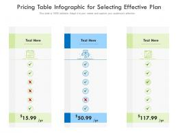 Pricing Table For Selecting Effective Plan Infographic Template