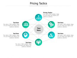 Pricing Tactics Ppt Powerpoint Presentation Outline File Formats Cpb