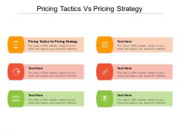 Pricing Tactics Vs Pricing Strategy Ppt Powerpoint Presentation Image Cpb