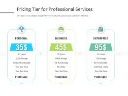 Pricing Tier For Professional Services
