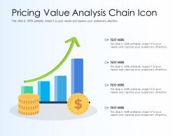 Pricing Value Analysis Chain Icon