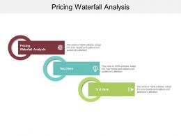 Pricing Waterfall Analysis Ppt Powerpoint Presentation Slides Backgrounds Cpb
