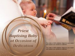 Priest Baptising Baby At Occasion Of Dedication