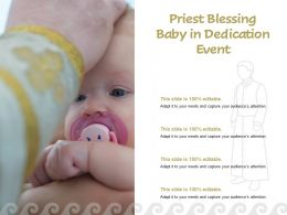 Priest Blessing Baby In Dedication Event
