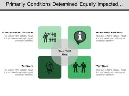 Primarily Conditions Determined Equally Impacted Concept Planning Managing Functions