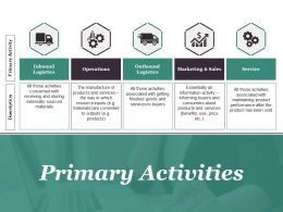 Primary Activities Ppt Sample Presentations