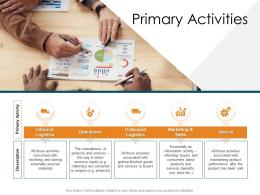 Primary Activities Strategic Management Value Chain Analysis Ppt Mockup