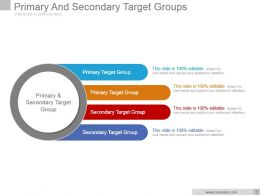 Primary And Secondary Target Groups Powerpoint Slide Introduction