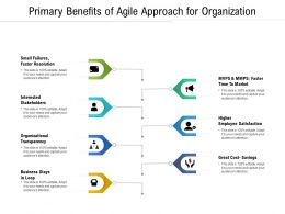 Primary Benefits Of Agile Approach For Organization