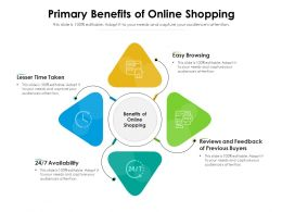 Primary Benefits Of Online Shopping