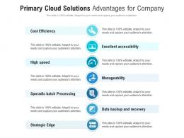 Primary Cloud Solutions Advantages For Company