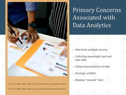 Primary Concerns Associated With Data Analytics
