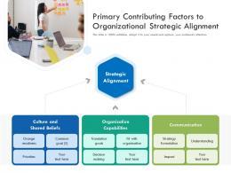 Primary Contributing Factors To Organizational Strategic Alignment