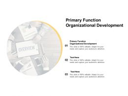 Primary Function Organizational Development Ppt Powerpoint Presentation Styles Graphics Template Cpb