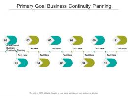 Primary Goal Business Continuity Planning Ppt Powerpoint Presentation File Format Cpb