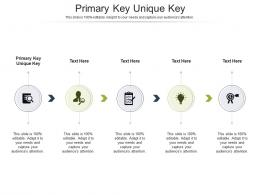 Primary Key Unique Key Ppt Powerpoint Presentation Styles Images Cpb
