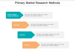 Primary Market Research Methods Ppt Powerpoint Presentation Layouts Graphics Tutorials Cpb