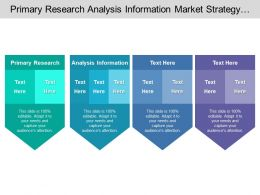 Primary Research Analysis Information Market Strategy Market Opportunity Analysis