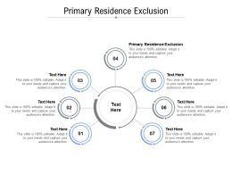 Primary Residence Exclusion Ppt Powerpoint Presentation Ideas Slides Cpb