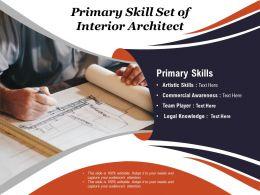 Primary Skill Set Of Interior Architect