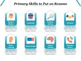 Primary Skills To Put On Resume