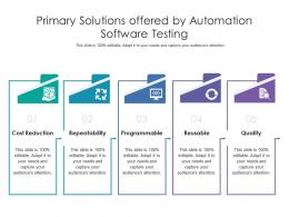 Primary Solutions Offered By Automation Software Testing