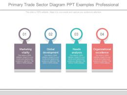 Primary Trade Sector Diagram Ppt Examples Professional