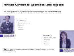 Principal Contacts For Acquisition Letter Proposal Team Ppt Powerpoint Slides