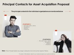 Principal Contacts For Asset Acquisition Proposal Ppt Powerpoint Presentation Show Graphic Tips