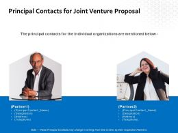 Principal Contacts For Joint Venture Proposal Ppt Powerpoint Presentation