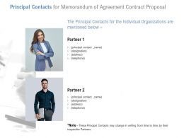 Principal Contacts For Memorandum Of Agreement Contract Proposal Ppt Ideas