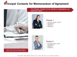 Principal Contacts For Memorandum Of Agreement Partner Ppt Powerpoint Presentation Outline