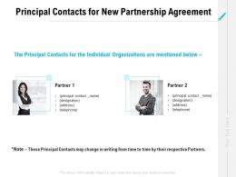 Principal Contacts For New Partnership Agreement Ppt Powerpoint Pictures Aids