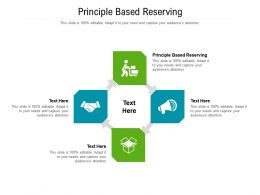 Principle Based Reserving Ppt Powerpoint Presentation Infographics Influencers Cpb
