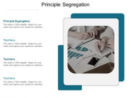 Principle Segregation Ppt Powerpoint Presentation File Graphics Design Cpb
